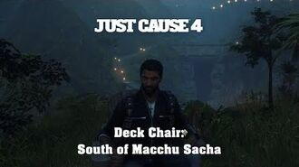 Just Cause 4 - Deck Chair South of Macchu Sacha