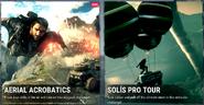 JC4 game menu - challenges tab (Solis pro tour and Aerial acrobatics)
