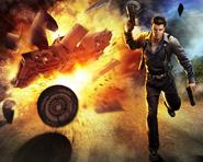 JC1 promotional art - Hurst Dagger explosion