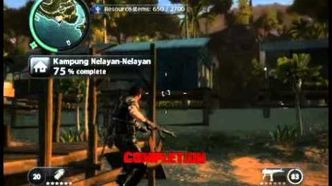 Just Cause 2 - Kampung Nelayan-Nelayan - civilian village