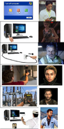 Just Cause characters in the Turn off computer meme