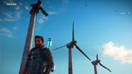 Insula Lacrima wind turbines