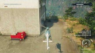 Just Cause 4 Weird flying man at Prospero Robótica