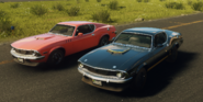 Deathstalker Scorpion Muscle Car and Coyle Mambo (left front corners)