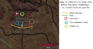 Operation Sandstinger (map of objectives)