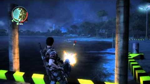 Just Cause 2 video helicopter shot down makes unlimited enemies to kill