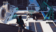 JC3 white drone at lower bow section