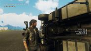 Cargo trailer truck (underside details)