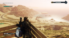 Beachhead (looking at the beach from the sniping spot)