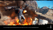 JC3 loading (Capstone Hydra picture and wingsuit course text)