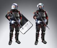 Riot police concept