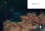 JC4 Floating rocks at the north-west sea location map