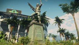 JC4 Black Hand Statue (announcement screenshot)