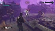 Extermination (Black Hand soldiers at their trucks)