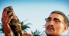 Javi holds a figure of Otorongo
