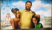 Meeting Lanza Morales (family photo of Gabriela, Lanza and Mira)