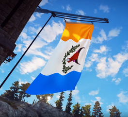 JC3 rebellion flag (on a flagpole)