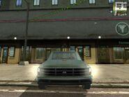 Shimizu Tumbleweed, Guerrilla version, patrol vehicle, front view.