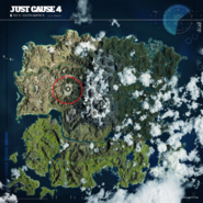 JC4 giant crater location map
