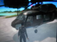 Kane piloting Agency HH-22 Savior (Taking Out the Garbage)