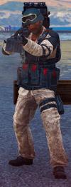 Medici Military machinegun soldier