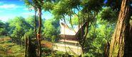 Kampung Bunga Kertas big ancient house