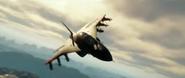 Fellhawk Jet Fighter in trailer