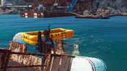 JC3 deployed liferaft