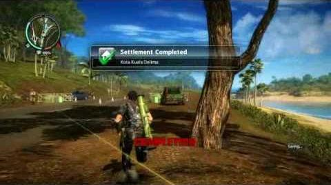 Just Cause 2- settlement completion- Kota Kuala Delima