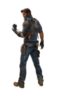 JC3 Rico artwork (clear background, looking over left shoulder)