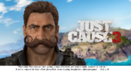 JC3 Rico with large mustache