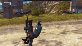 JC3 floating non-solid woman glitch