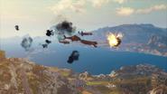Missile cowboy carpet bombing