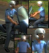 San Esperito motorcycle policeman