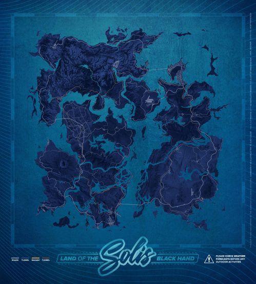 Fake map of Solis