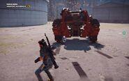 Black Hand Autocannon Mech Rear