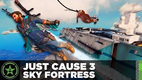 JC3 Sky Fortress pre-launch gameplay