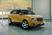 Prisa Viento SUV (left front corner, at the display room, yellow)