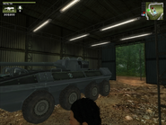 San Esperito Military Vehicle Shed Interior