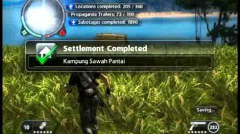 Just Cause 2 - Kampung Sawah Pantai - civilian village