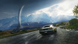 JC4 leaked artwork (muscle car, mountains and tornado)