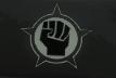 Black hand flag