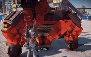 Black Hand Autocannon Mech Side Close-up