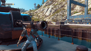 JC3 Corvette cannon
