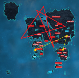 JC3 map with rough obelisk locations (updated)