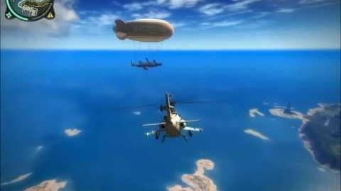 """Just Cause 2 """"Mile High Club"""" - Epic airship with jet engines"""