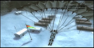 Just Cause 2 development - flag and winter clothing