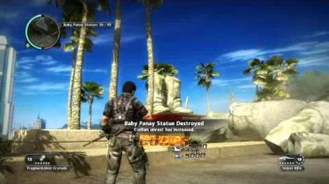Just Cause 2 statue glitch