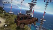 Weimaraner W3 (jump at tower base)