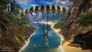 Parachuting at Sungai Sejuk river